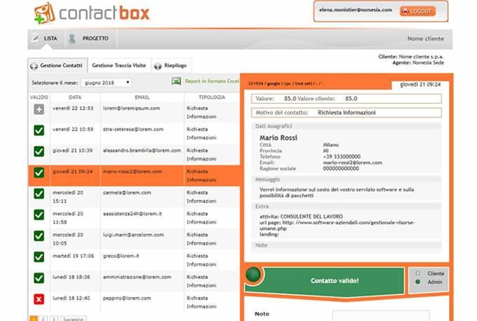 contactbox software gestione contatti